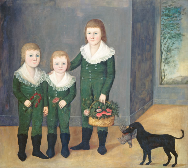 Joshua Johnson The Westwood Children 1807 Oil on canvas 41 1/8 x 46 1/16 in.