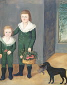 Joshua Johnson, The Westwood Children, 1807, Oil on canvas, 41 1/8 x 46 1/16 in.