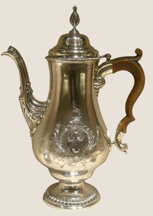 Paul Revere1734-1818Coffee Pot1773Silver and wood