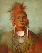 George Catlin, See-non-ty-a, an Iowa Medicine Man, 1844-45, Oil on canvas, 28 x 22 7/8 in.