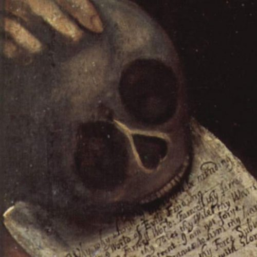Thomas Smith Self-Portrait, Detail Skull