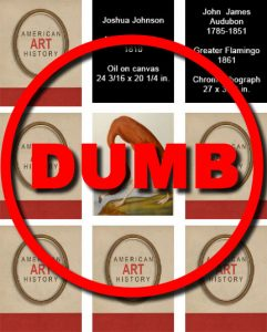 "The word ""Dumb"" over an art game"