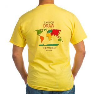 ARTK12 t-shirt: Can you draw the world?