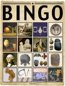 American Art Extra Bingo Card Volume I, Variation 2