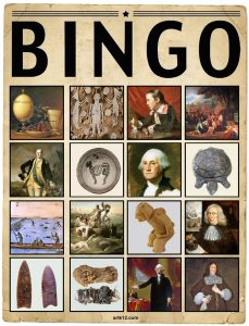 American Art Extra Bingo Card Volume I, Variation 4