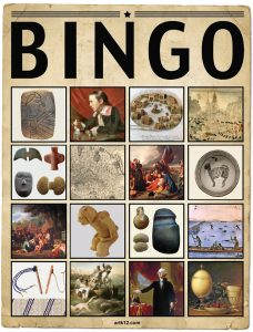American Art Extra Bingo Card Volume I, Variation 5