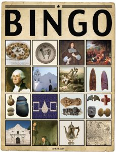 American Art Extra Bingo Card Volume I, Variation 6