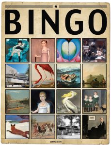 American Art Extra Bingo Card, Variation 12