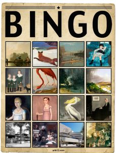 American Art Extra Bingo Card, Variation 13