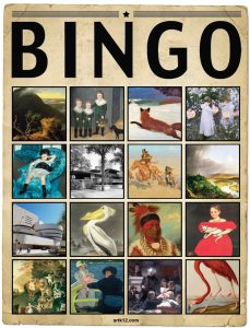 American Art Extra Bingo Card, Variation 14