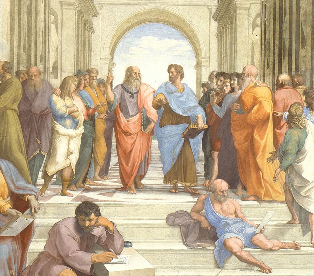 The School of Athens (detail) by Raphael