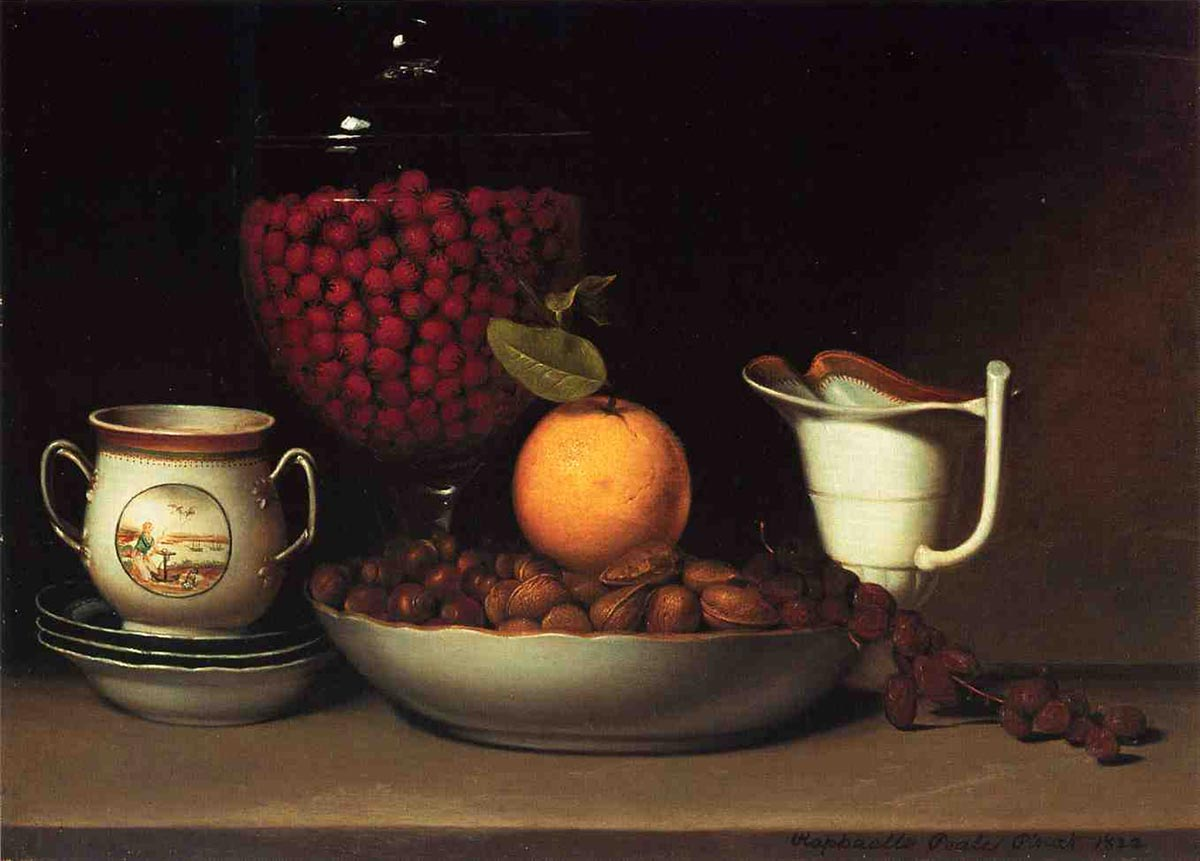 Still Life: Strawberries, Nuts &c by Raphaelle Peale