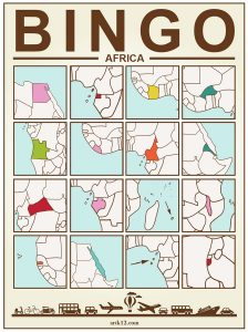 Africa Bingo: Bingo Card One