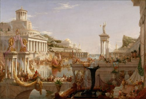 The Course of Empire: Consummation by Thomas Cole
