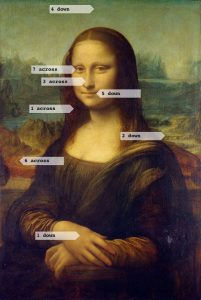Mona Lisa with Crossword Clues