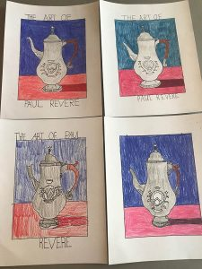 Paul Revere's Teapot Drawings ARTK12
