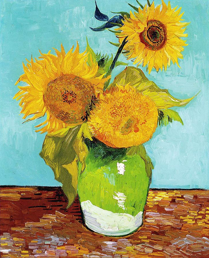 Van Gogh, Three Sunflowers