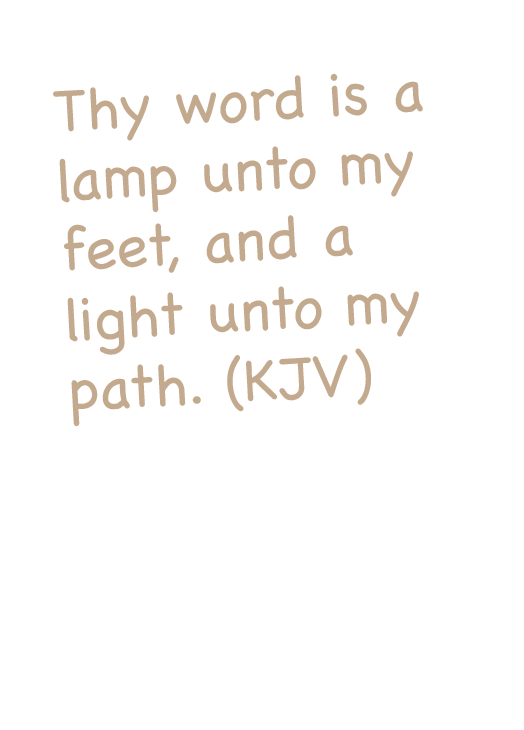 verse card text psalm 119:105