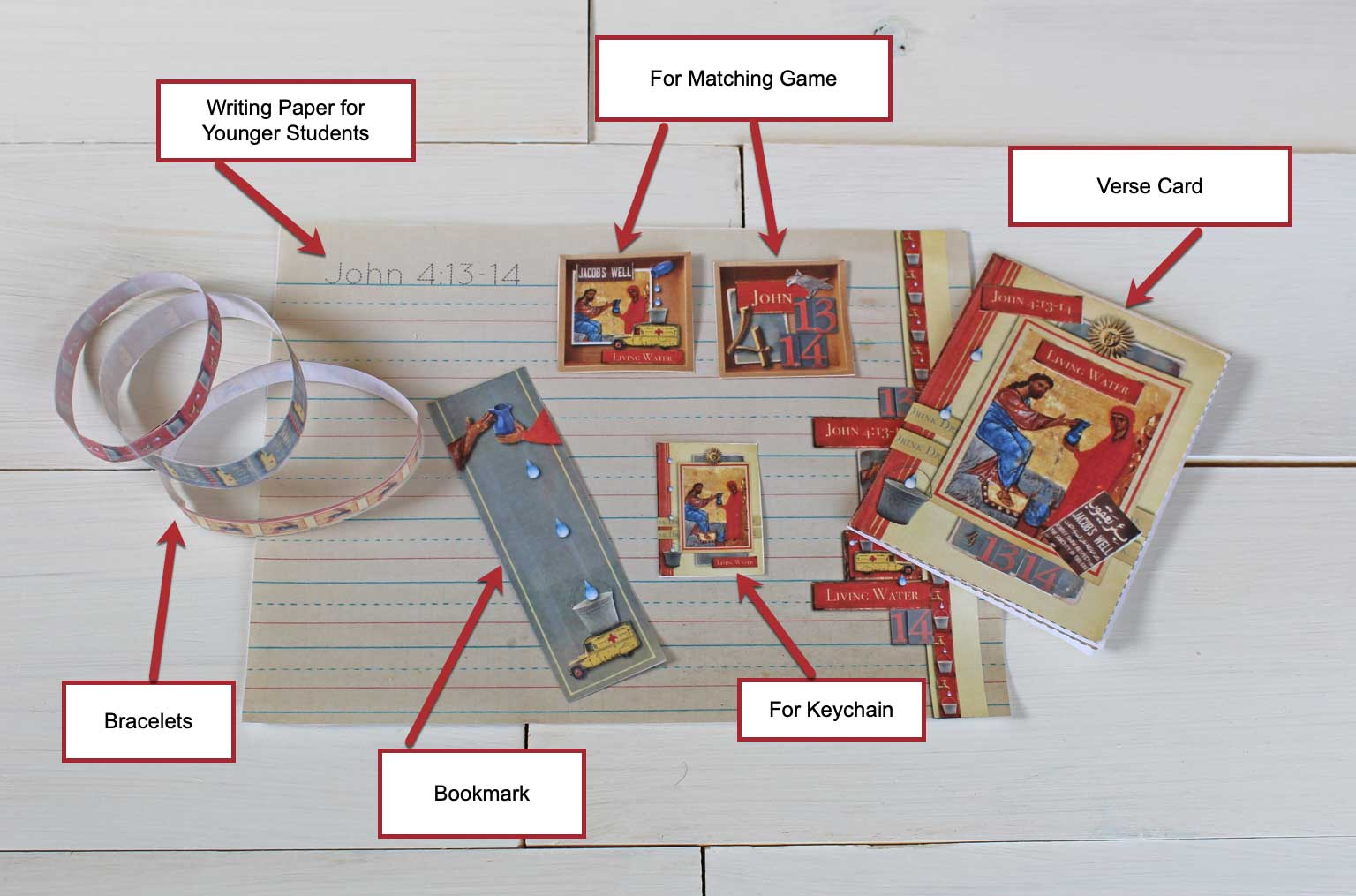 Image showing all the Bible verse projects