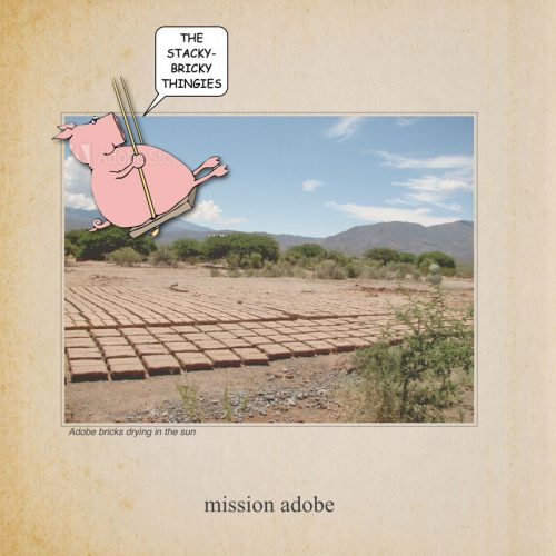 Proof Page from Mission Architecture. Pig says, The stacky bricky thingys.