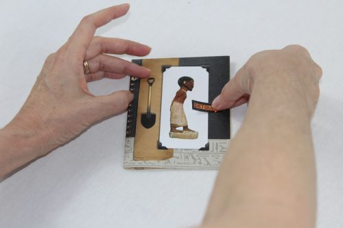 Place the image anywhere you like on the front or back of the card.