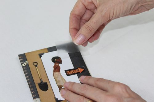 Now cover the image with a piece of clear tape. Repeat with all of the images in Section A.