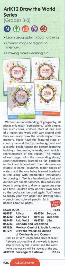 ARTK12 Map Books in the Rainbow Resource Catalog