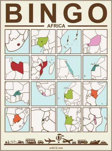 Africa Bingo Card Three