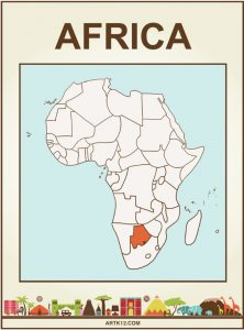 Africa Flash Card Front One