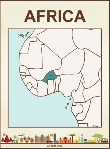 Africa Flash Card Front Two