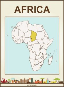 Africa Flash Card Front Three