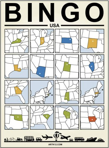 USA Bingo Card Two