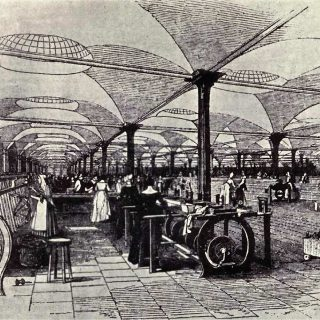 Factory during the industrial revolution
