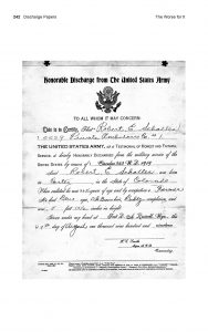 The Worse for It: Robert E. Schalles' Discharge Papers