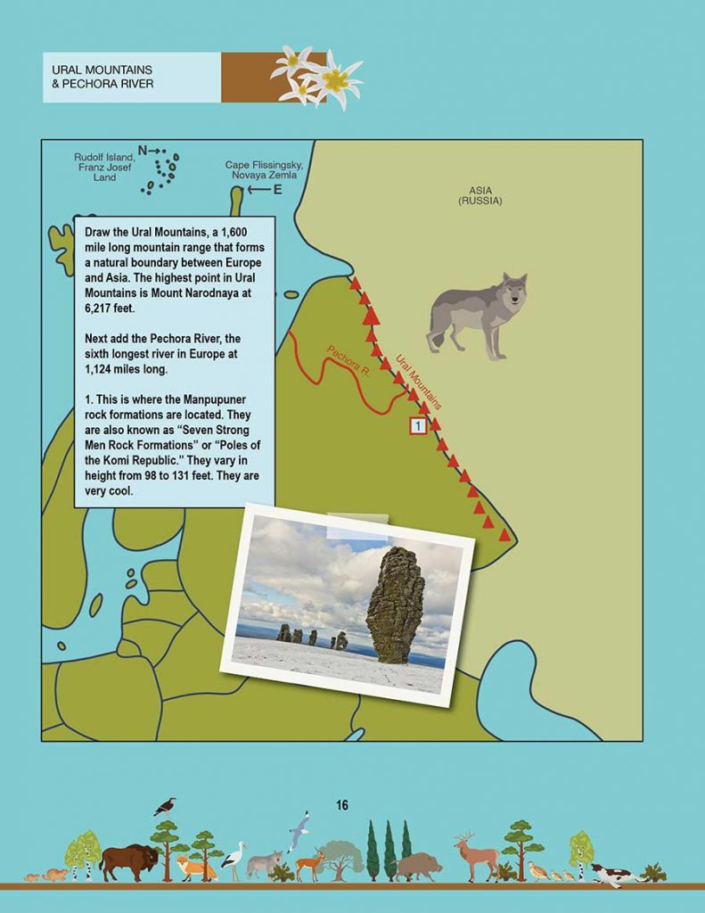New Geography Book: The Ural Mountains and Manpupuner rock formations