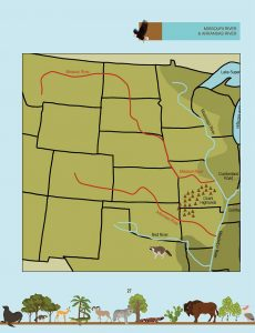 Draw the Natural Wonders of the USA: Missouri River and Arkansas River