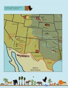 Draw the Natural Wonders of the USA: Southwest Territory, Death Valley, Mojave Desert